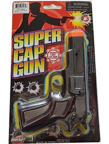 Pistol Cap Gun - Super Cap Pistol, Uses 8 Shot Rings not included