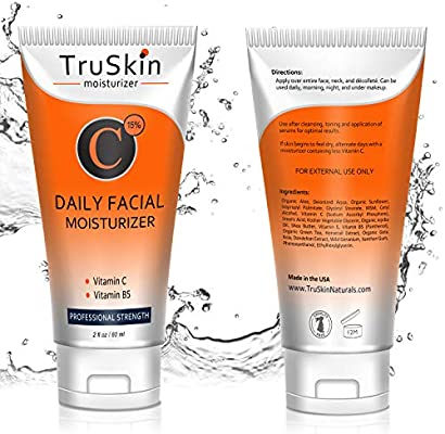 BEST Vitamin C Moisturizer Cream for Face, Neck & Décolleté for Anti-Aging, Wrinkles, Age Spots, Skin Tone, Neck Firming, and Dark Circles. 2 Fl. Oz