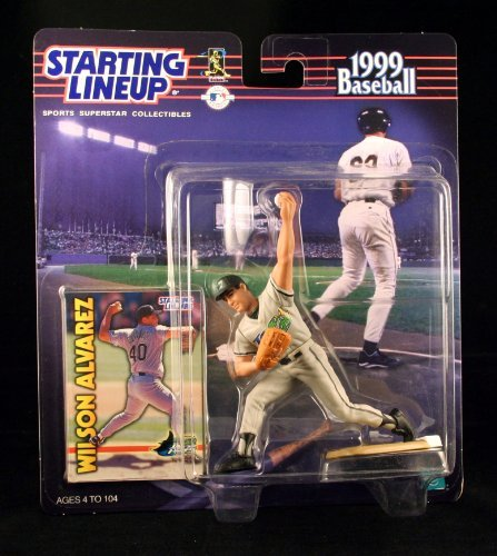 WILSON ALVAREZ / TAMPA BAY DEVIL RAYS 1999 MLB Starting Lineup Action Figure & Exclusive Collector Trading Card