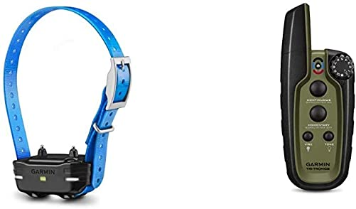 Garmin PT10 Dog Device Blue Collar Pro 70 Pro 550 Bundle with Garmin Sport PRO, Handheld Dog Training Device, 1-Handed Training of Up to 3 Dogs
