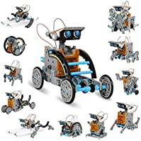 KIDCHEER STEM 12-in-1 DIY Solar Robot Toys 190PCS Science Experiment Kit for Kids 8+ Educational Solar Building Set...