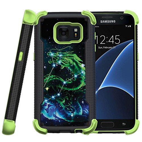 Cheap Cases Samsung Galaxy S7 Case, S7 Case, SM-G930 Treasure Cover [Shockwave Armor]- Green..