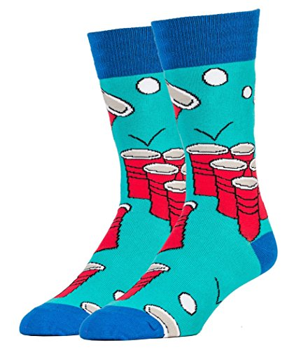 Oooh Yeah Socks ! - Mens Crew - Beer Pong