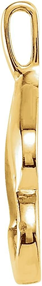 Jewels By Lux 14K Yellow Gold Polished Metal Fashion Pendant Size 80662