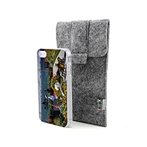 CaseCityLiu - Ste adresse balcony Claude Monet Oil Painting Design Hard Case Cover for Apple iPhone 4 4s 4th 4g 4Generation Come With FREE Non Woven Packing Bag