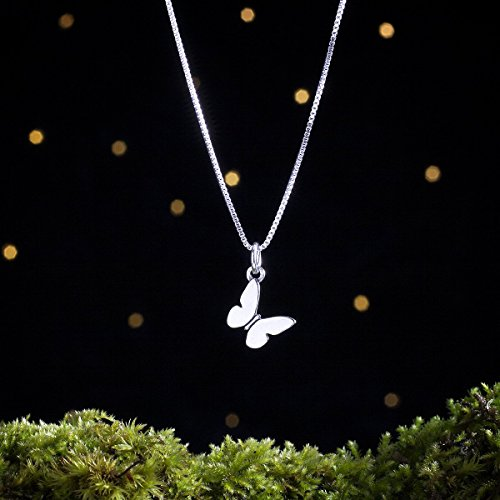 Sterling Silver Butterfly Charm - Small, Double Sided - (Charm or Necklace) ()