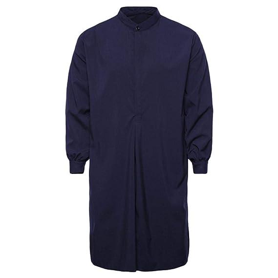465e9bd1c Yvelands Musulmanes Camisas de Los Hombres apuestos Moda Casual ...