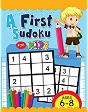 A First Sudoku for Kids Ages 6-8: Easy and Fun Activity Early Learning Workbook with Animal Coloring Pages