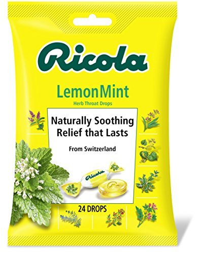 (Ricola Herb Throat Drops, Lemon-Mint, 24 Count by Ricola)