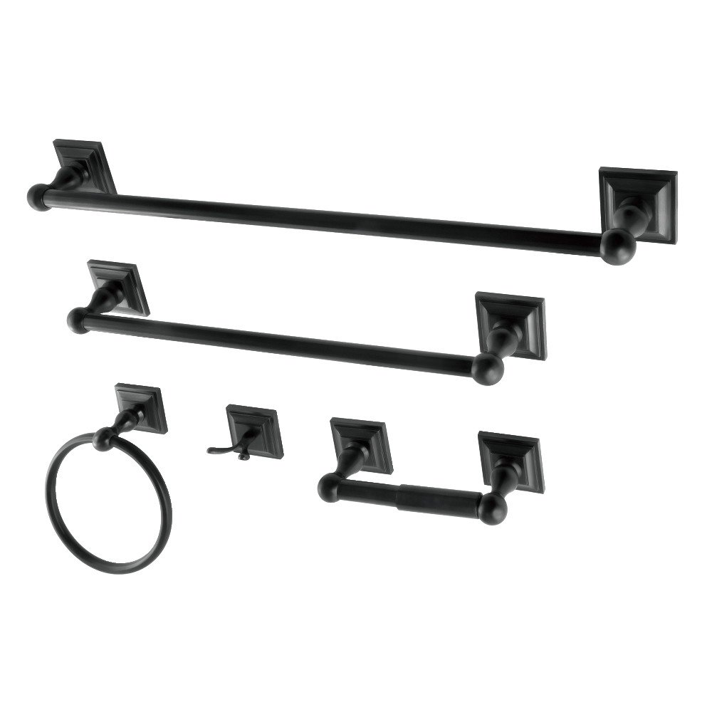 Kingston Brass BAHK3212478K Bathroom Hardware Combo, Black