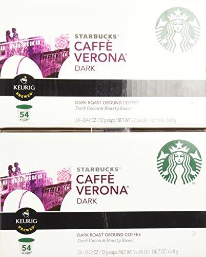 Starbucks Caffè Verona, Dark Roast, 108-Count K-Cups for Keurig Brewers by Starbucks (Image #2)