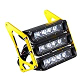 MagiDeal Motorcycle Three-Tier LED Modified Headlights Fairing for MSX125 - Gold