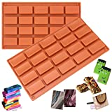 20 Cavities Rectangular Chocolate Candy Bar
