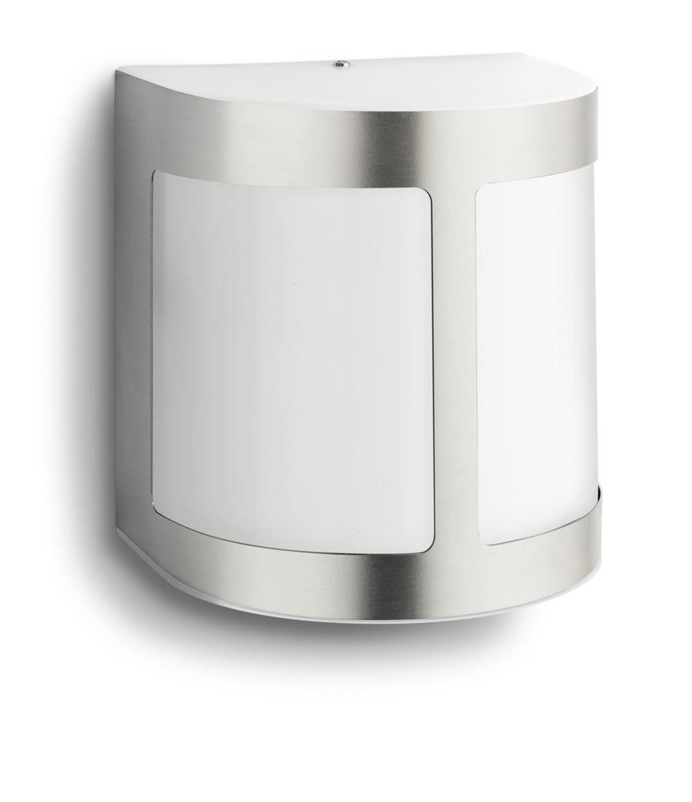 Philips myGarden Parrot LED Wandleuchte, Edelstahl, Bewegungsmelder 173164716 915004989001