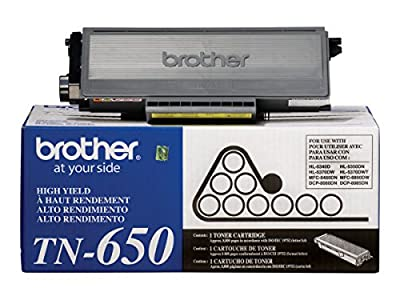 Brother TN650 High Yield Toner Cartridge for DCP-8080DN / DCP-8085DN / HL-5340D / HL-5350DN / HL-5370DW / HL-5370DWT / MFC-8480DN / MFC-8680DN / MFC-8690DW / MFC-8890DW