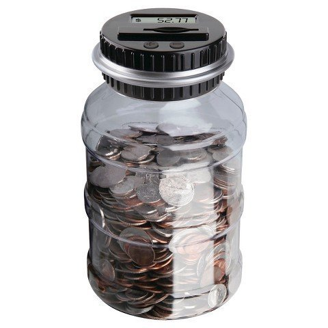 Emerson Digital Counting Money Jar