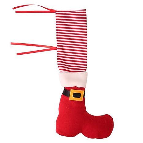 Fundas para patas de Navidad, diseño de elfos y patas, para decoración de fiestas