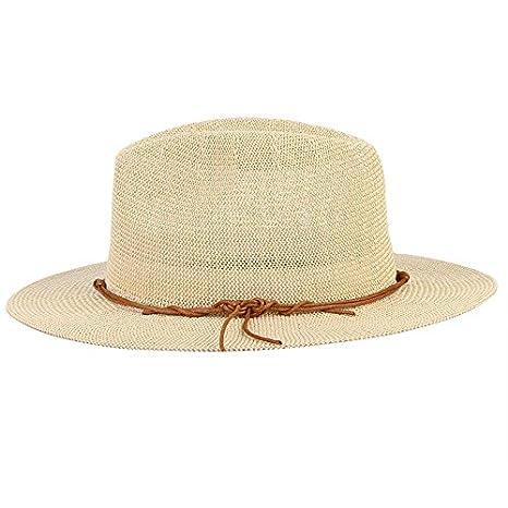 73dc672d Amazon.com : ALWLj Breathable Hollow Out Big Large Brim Men Straw Hats  Beach Sun Hat Adjustable Jazz Fedora Cap Male Summer Panama Hats : Sports &  Outdoors