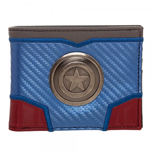 Bioworld Marvel Captain America - Carbon Fiber Bi-Fold Wallet 4 x 5in