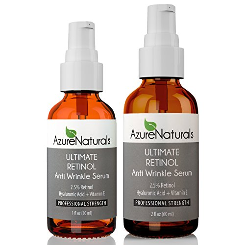 Azure Naturals Ultimate Retinol Anti Wrinkle Serum, 1 fl. oz.