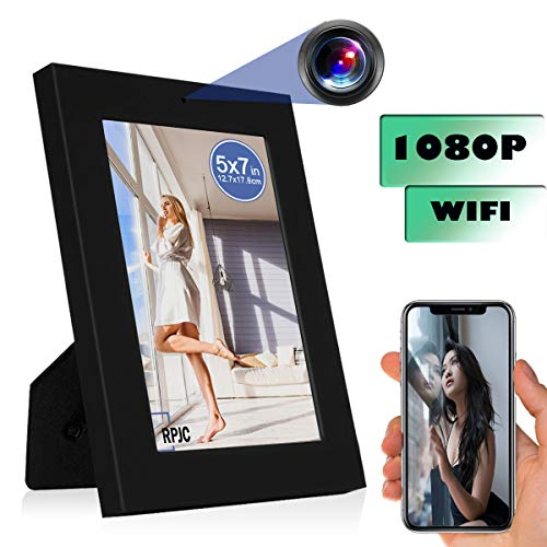 WiFi Photo Frame Camera Mini Camera HD 1080P Nanny Cam Baby Pet Cam Motion Detection/Indoor Security Monitoring Camera Support Android/iOS