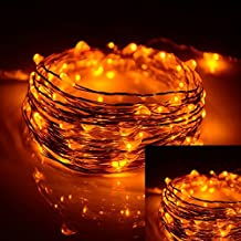 ILOVEDIY 2M 20LEDs Battery Operated LED Waterproof Copper Wire String Fairy Lights (2M, orange)