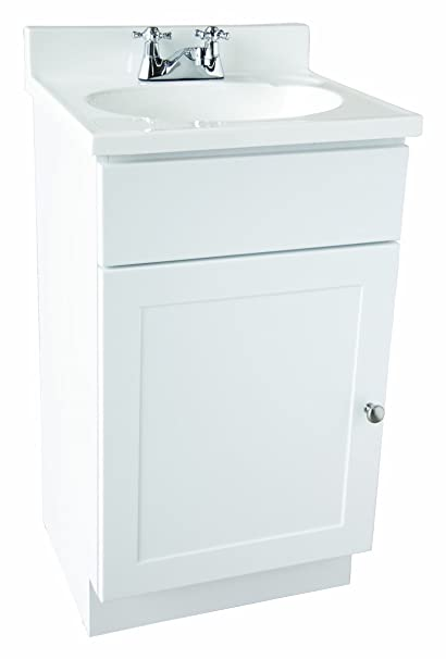 Design House 541599 Vanity Combo White Bathroom Cabinet With 1 Door 19