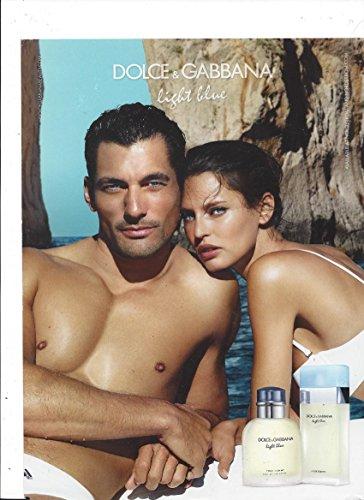 PRINT AD With Bianca Balti & David Gandy For 2015 Dolce & Gabbana Light BluePRINT - Gabbana 2015 Dolce And