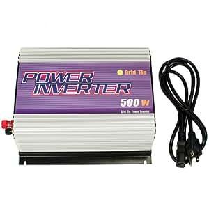 iMeshbean® New 500w Small Grid Tie Power Inverter Converter for Solar Panel System 22-60v Dc to 110v Ac
