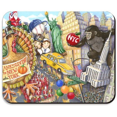 Thanksgiving Day Parade Mousepad 8 x 10 Inch NYC Thanksgiving Mouse - Macys Nyc