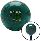 American Shifter Company ASCSNX1621787 Gn 6 Speed Shift Pattern - Gas 2 0 Gn Flame Metal Flake Shift Knob M16 x 1.5