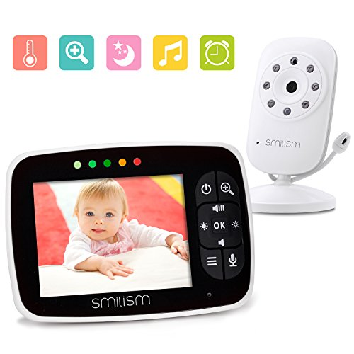 "Video Baby Monitor with 3.5"" LCD Large Screen Night Vision C"