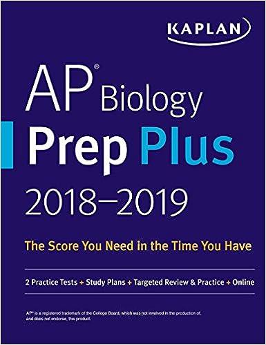 Amazon com: AP Biology Prep Plus 2018-2019: 2 Practice Tests + Study
