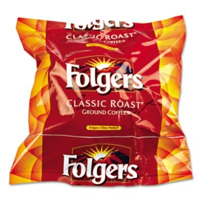 Coffee Filter Packs, Classic Roast, .9 oz, 160/Box by Folgers