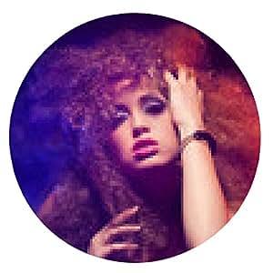 alfombrilla de ratón Mujer con corte de pelo afro es la discoteca bailando - ronda - 20cm