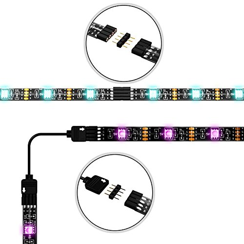 LED TV Backlight Kit, Topled Light® 4x1.64ft Bias Lighting RGB Color Changing with 44Keys Remote + Power Adapter LED Strip Backlight Kit for HDTV Flat Screen LCD, Desktop PC(Backlight Kit)) by Topled Light (Image #1)