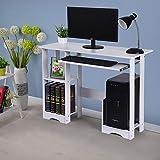 """Kledbying 35.4"""" Computer Desk with 2 Shelves"""