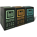 Redd Gluten Free Plant Based Superfood Energy Bar, Variety Pack, 18 Count