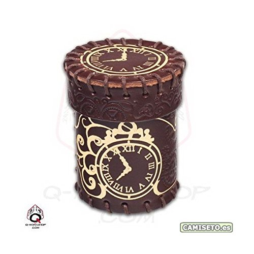 Golden Steampunk Leather Cup, Brown