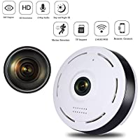 Nesolo 360 Degree fisheye Panoramic IP Camera 960P 2.4GHZ Wireless Wifi Security Camera Super Wide Angle Support IR Night Motion Detection Keep Your Pet & Home Safe