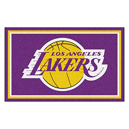 FANMATS 20431 NBA - Los Angeles Lakers 4'X6' Rug, Team Color, 44''x71'' by Fanmats