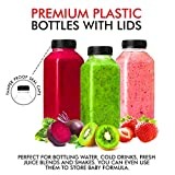 12 Oz Plastic Bottles with Caps, Reusable Bottles