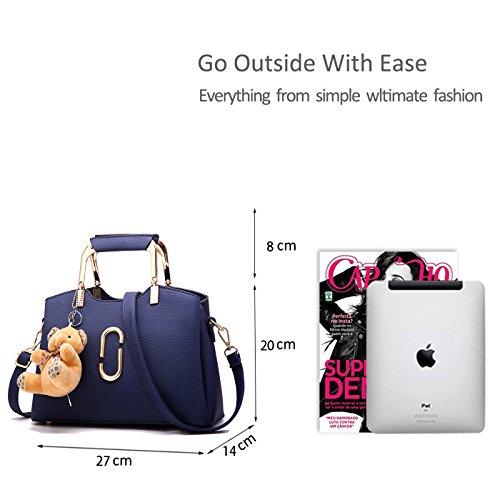 Shoulder Messenger Portátil Bolsa Compras Bag Femenina Azul de RUIREN UvXwYq