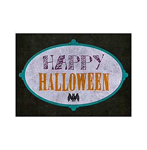 Happy Halloween Colorful Bright Large Print Bat Picture Seasonal Decoration Sticker Sign for Business Wall Window Any Smooth Surface Graphic