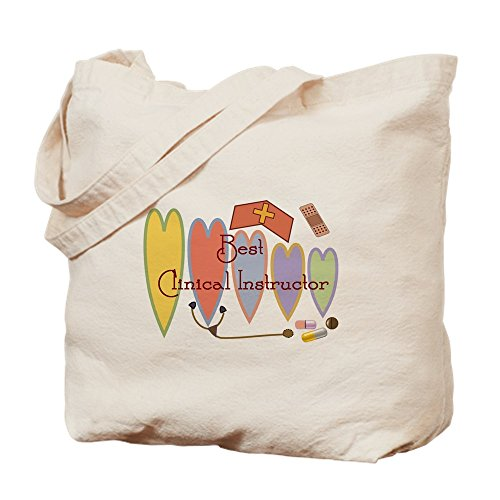 CafePress BEST CLINICAL INSTRUCTOR COUNTRY HEARTS Natural Canvas Tote Bag, Cloth Shopping Bag ()