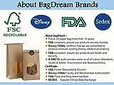 BagDream Bakery Bags with Window Kraft Paper Bags