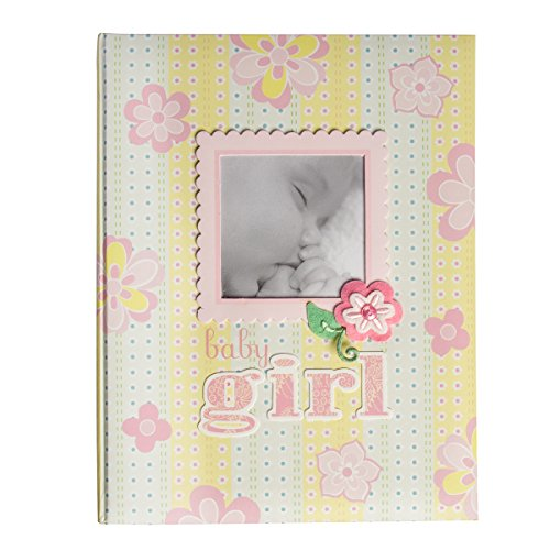 Girl Memory Album - C.R. Gibson First 5 Years Memory Book Baby Photo Album Toddler Girls Scrapbook Album Journal Gift