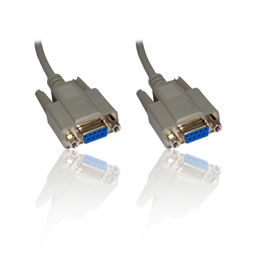 5m 16'ft Null Modem Serial DB9 Female RS232 RS-232 9pin to 9 Pin Cable Lead Wire CDL Micro