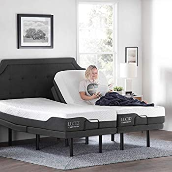 Amazon Com Lucid L300 Adjustable Bed Base With Lucid 10