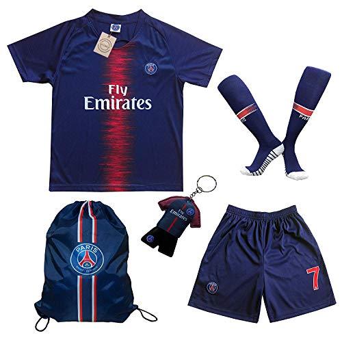 787a54e00 LES TRICOT 2018 2019 Paris Home  7 MBAPPE Football Futbol Soccer Kids Jersey  Shorts